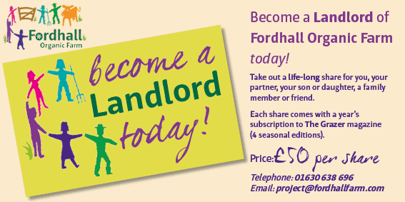 Become a Landlord at Fordhall Organic Farm