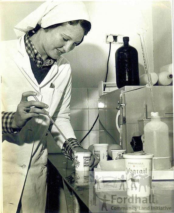 Kathleen Heaton in the dairy