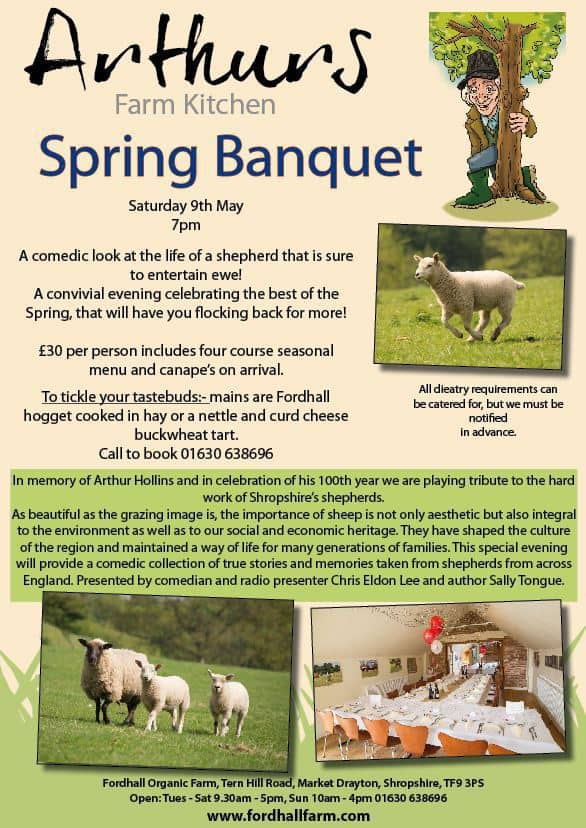 spring banquet fordhall farm