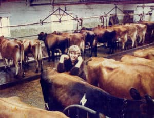 unknown colour of milking parlour