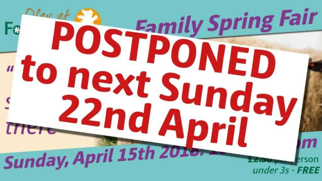 Spring Fair Postponed