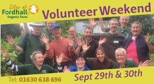 Volunteer Weekend September 2018 @ Fordhall Organic Farm   Tern Hill   England   United Kingdom