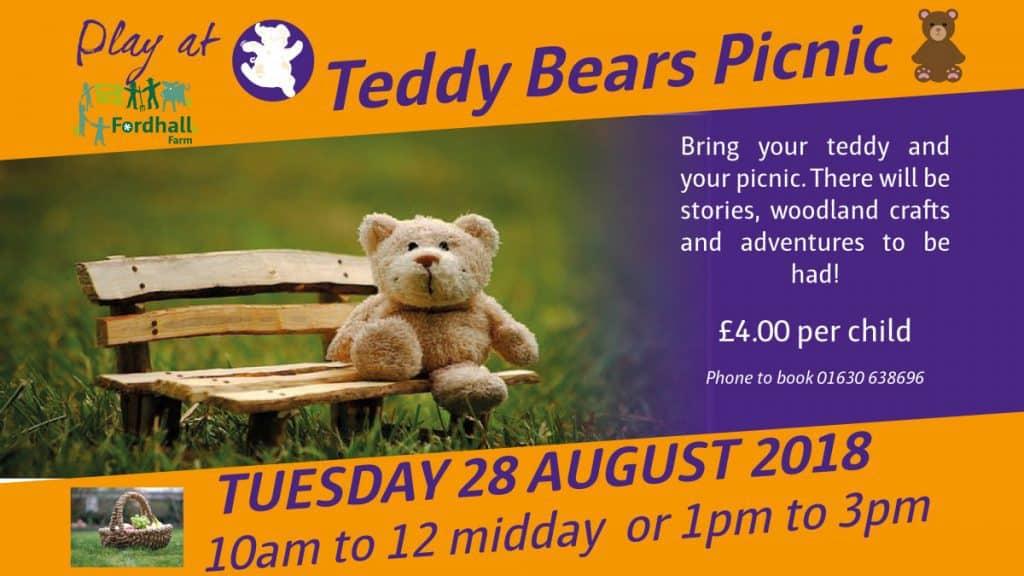 Teddy Bears Picnic Fordhall Organic Farm