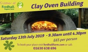** CANCELLED ** Clay Oven Workshop - Saturday 13 July 2019 @ Fordhall Organic Farm | England | United Kingdom