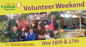 Volunteer Weekend November 2019 @ Fordhall Organic Farm | Tern Hill | England | United Kingdom