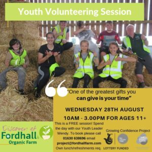 Youth Volunteer Day ages 11+ @ Fordhall Organic Farm  | England | United Kingdom